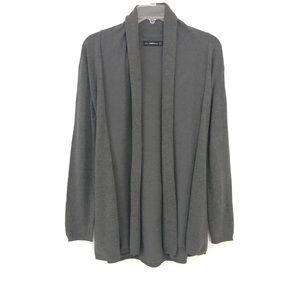 Zara Knit S Gray Viscose Nylon Cardigan Sweater